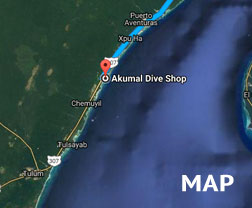Akumal Dive Shop, Riviera Maya | map